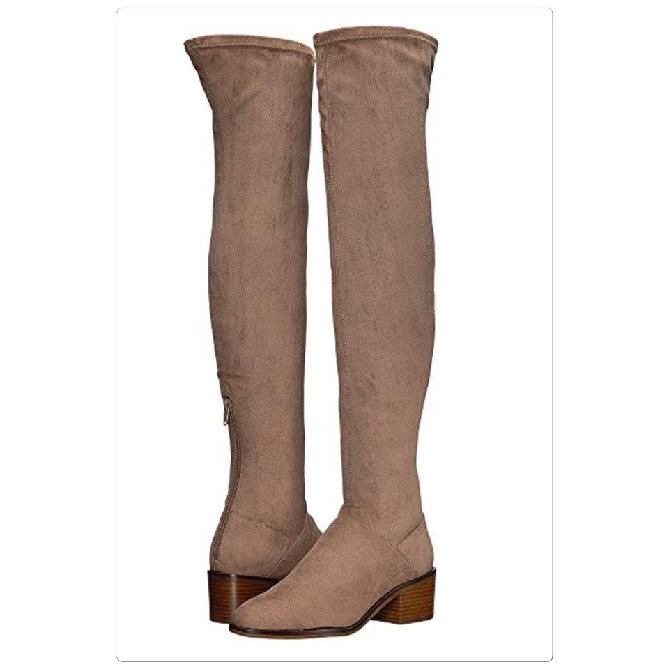 87ca08dbe6ca Steve Madden Taupe Gabbie Thigh High Boots/Booties Size US 5.5 ...