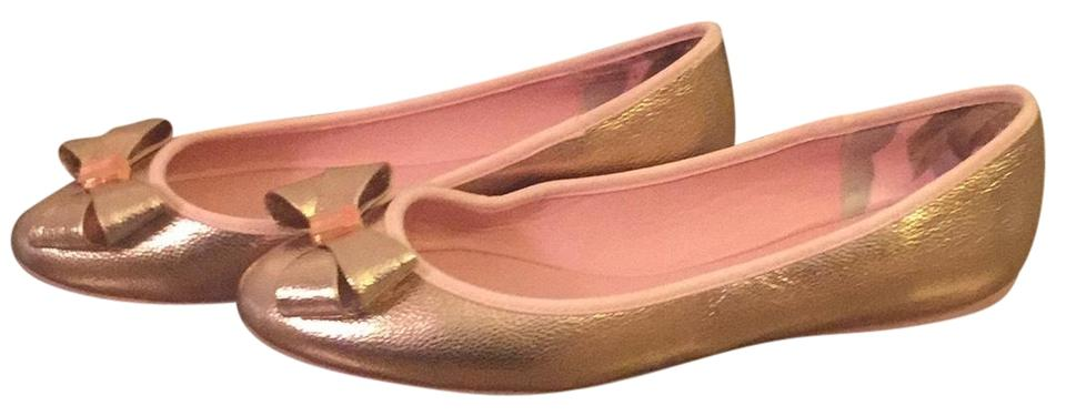 a09bf07bd Ted Baker Rose Gold Bow Ballet Flats Size EU 37.5 (Approx. US 7.5 ...