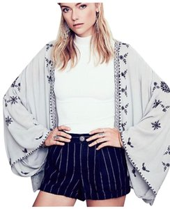 Free People Embroidered Cardigan