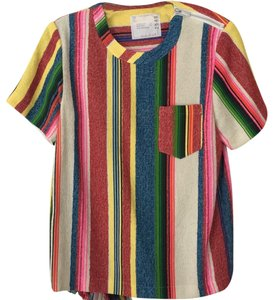 sacai Top pink, green, blue, yellow, red