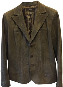 Alfani Short Forest green suede Leather Jacket