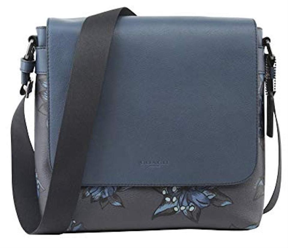 64775caef43b Coach Charles Small Denim Blue Leather   Coated Fabric Messenger Bag ...