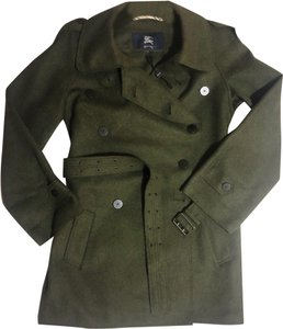 Burberry Wool Double Breasted Trench Coat