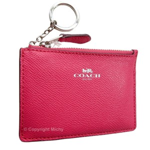 Coach Coach F12186 Leather Mini Skinny ID Card Case Coin Wallet