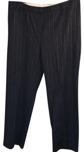 Missoni Wide Leg Pants charcoal with pink & cream stripe ,