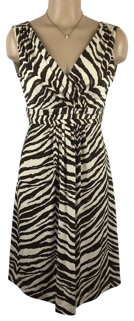 Item - Tan/Brown Animal Print Short Night Out Dress Size 4 (S)