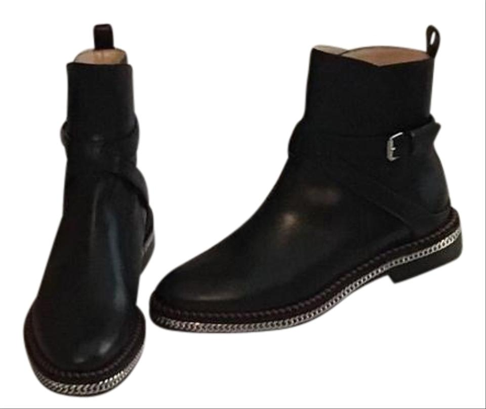 huge selection of 34719 4c954 Christian Louboutin Black Chelsea Chain Flat Ankle Boots/Booties Size EU 40  (Approx. US 10) Regular (M, B) 53% off retail