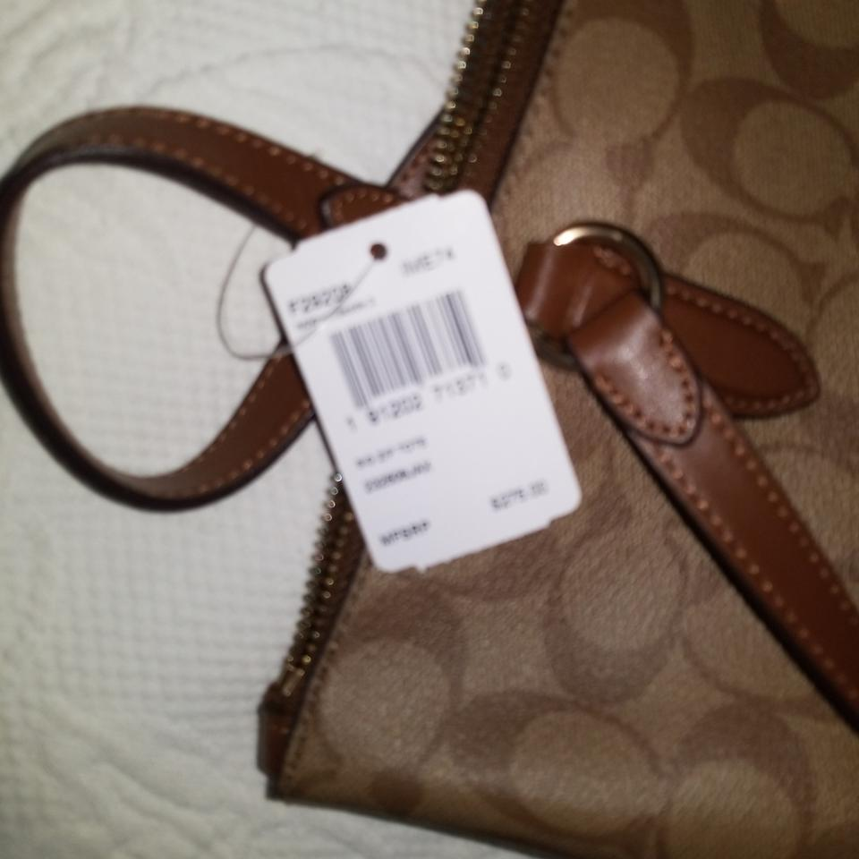 bd89594845 Coach Saddle City Signature Zip Im Khaki Saddle 2 Khaki Leather Tote ...