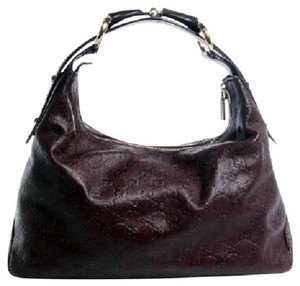 Gucci Guccissima Horsebit Leather Hobo Bag
