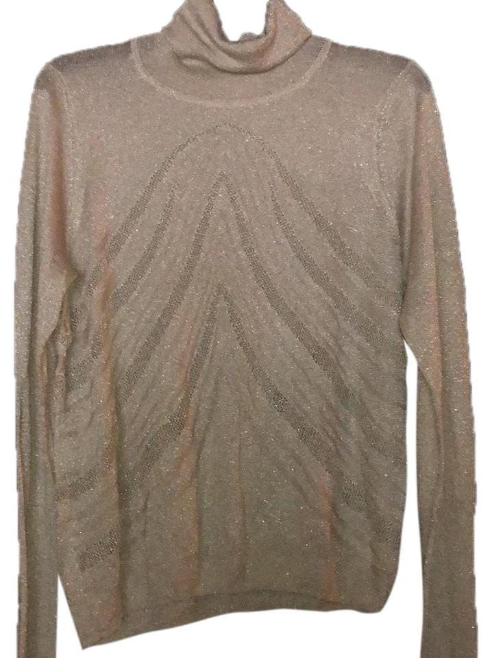 Levine Gold Shimmer Sweater Tradesy