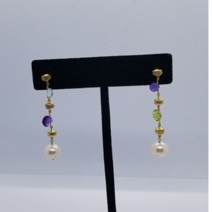 Marco Bicego Marco Bicego 18k Paradise multi pearl gold earrings