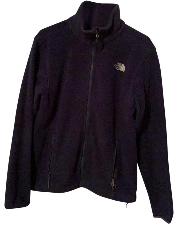 The North Face Navy Blue Fleece Activewear Outerwear Size 8 (M ... 607f675b9