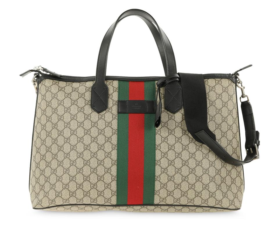 d8dc8bb1a565 Gucci Gg Monogram Supreme Crossbody Duffle Satchel in Brown Image 0 ...