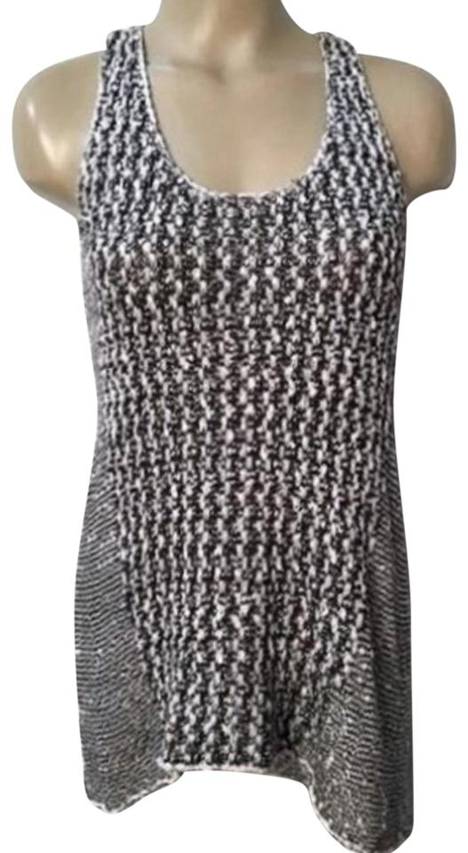 5d861d60686 CAbi Black/White Knit Sleeveless Tank Top/Cami Size 10 (M) - Tradesy