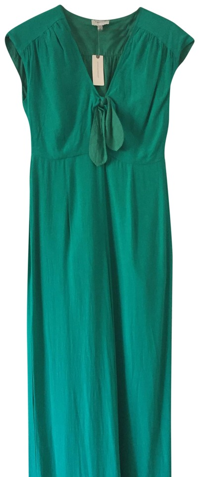 d8f3ed38f3c Anthropologie Green Tie Front Romper Jumpsuit - Tradesy