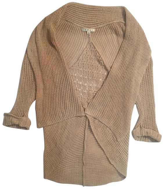 Item - Tan Open Front Cardigan Size 6 (S)