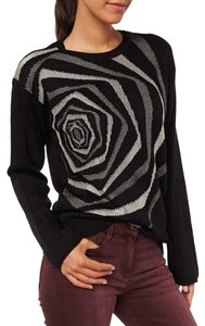Desigual Knit Slouchy Modern Graphic Sweater