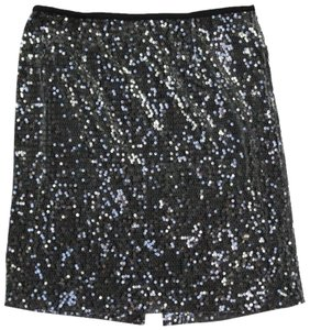 Calvin Klein Classic Sequin Party Mini Skirt Black