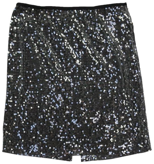 Item - Black Fabric Under Clear Sequin Sexy Fully Lined Night Out Skirt Size 8 (M, 29, 30)