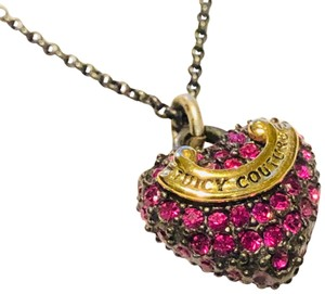 Juicy Couture juicy couture Pave Heart Necklace