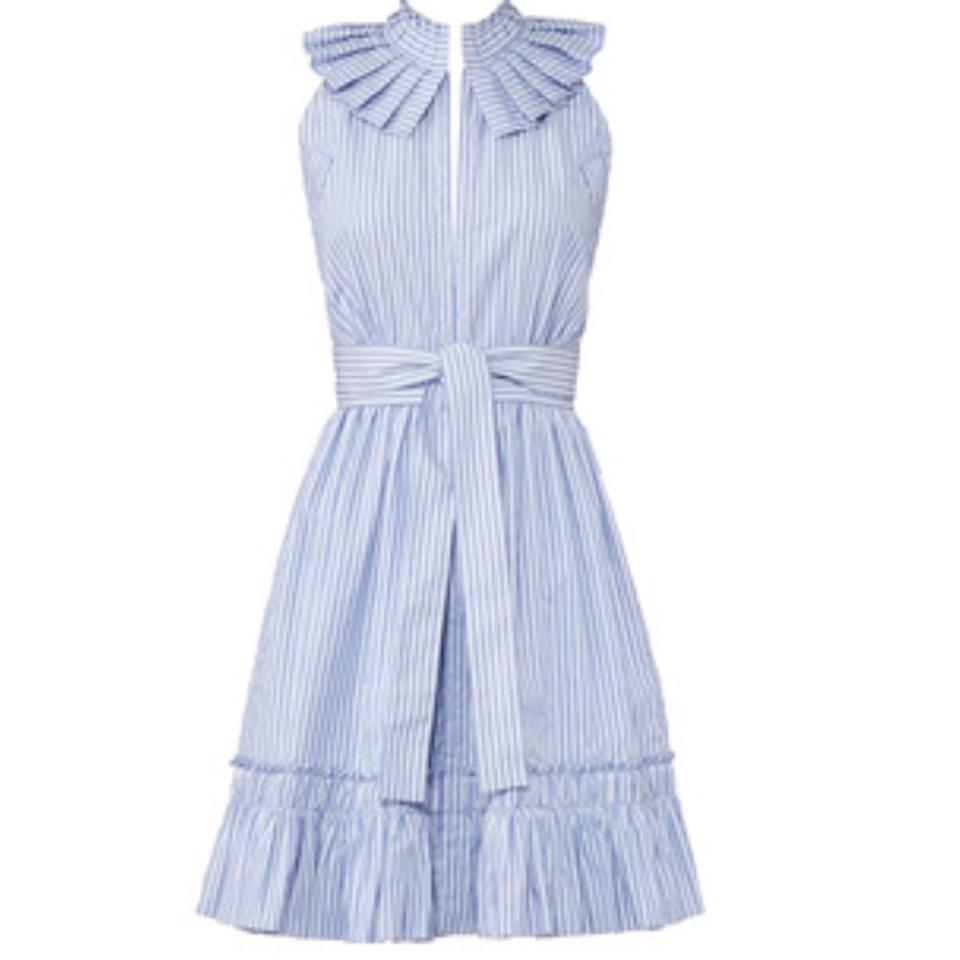 1e2aea819c7a Alexis Blue and White Striped Briley Short Casual Dress Size 8 (M ...