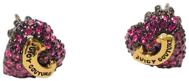 Juicy Couture Hot Pink Pave Heart Stud Earrings Juicy Couture Hot Pink Pave Heart Stud Earrings Image 1