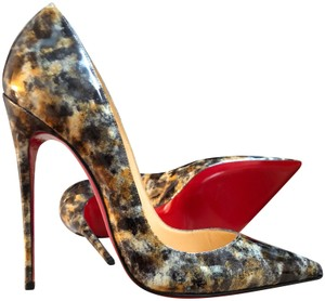 Christian Louboutin Leopard Chanel Hermes Classic Pigalle Black/Gray/Gold/White Pumps