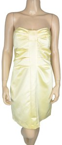 Max and Cleo Satin Strapless Ruched Shimmer Dress