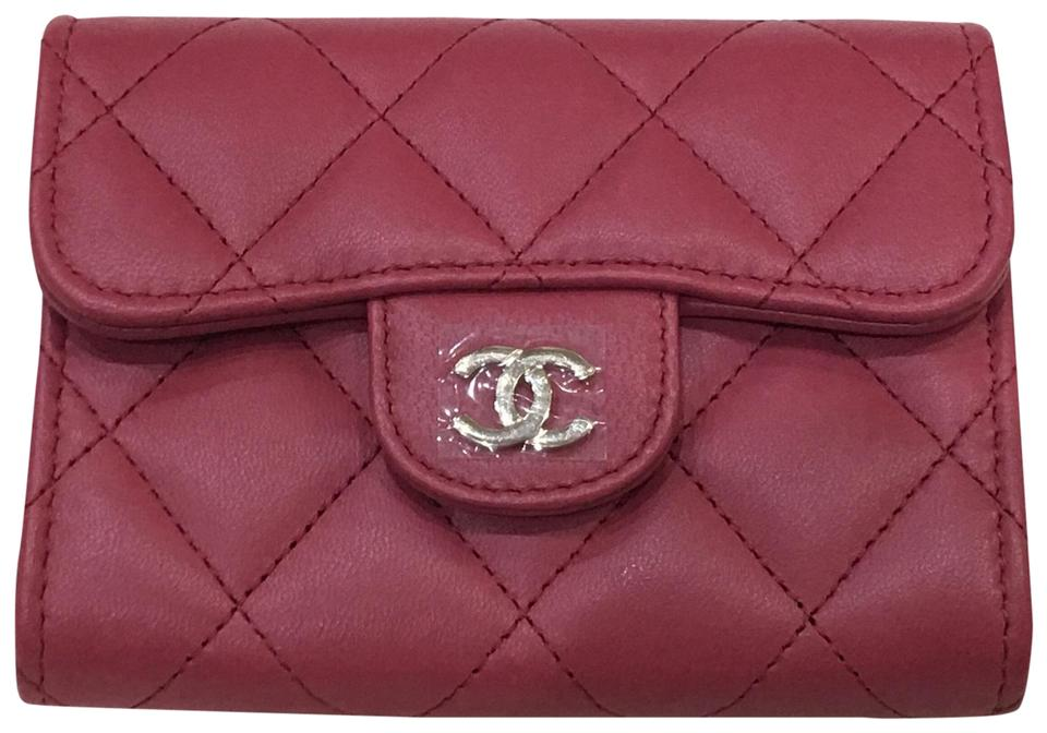 6ab8bde0f701 Chanel Pinkish/Raspberry Classic Coin Purse / Cardholder Wallet ...