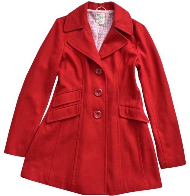 Item - Red Wool Coat Size 10 (M)