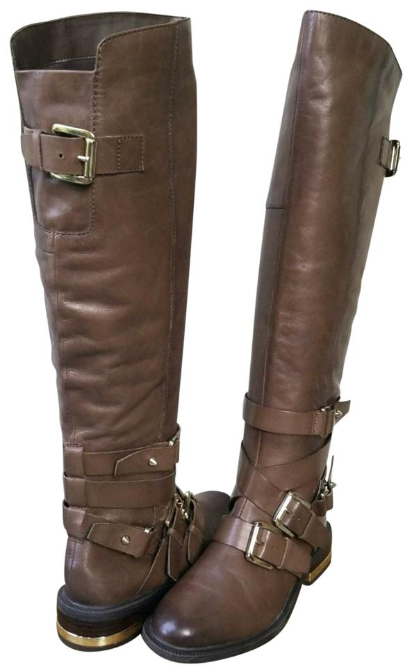 exquisite design watch look out for ALDO Strappy Brown Leather with Gold Buckles Boots/Booties Size US ...