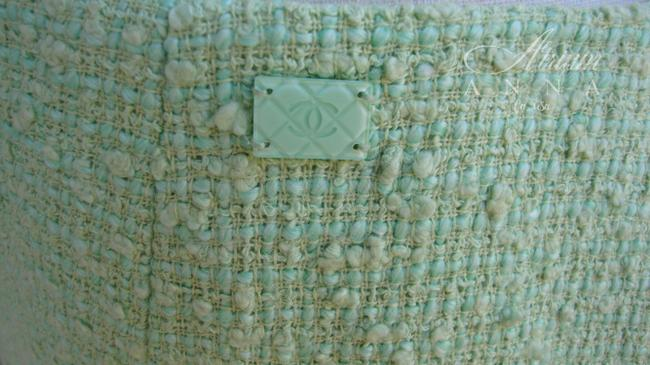 Chanel Chanel Green Pastel Tweed Skirt Suit Image 7