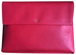 MCM Cherry Red Clutch