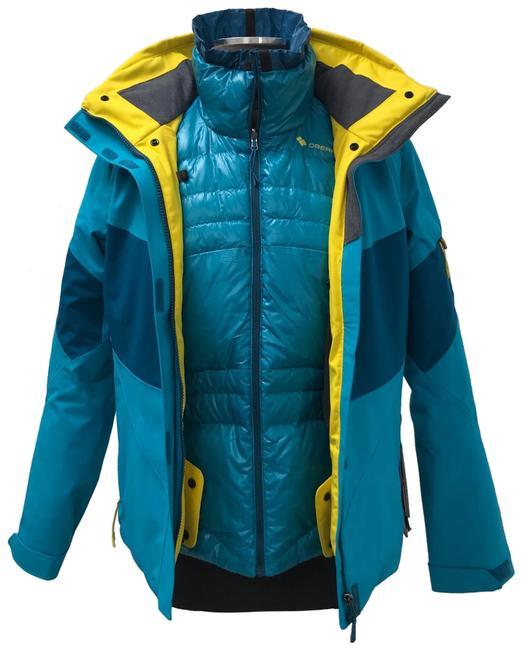 Item - Teal and Yellow Double Dare 4 In 1 Jacket In Mermaid Activewear Size 6 (S)