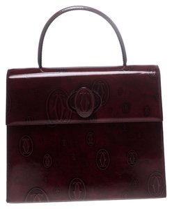 Cartier Patent Leather Shoulder Bag