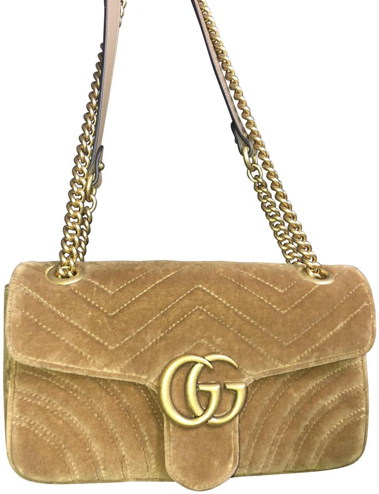 7d2ce2fc491b Gucci Marmont Medium Gg 2.0 Matelassé Velvet Shoulder Cross Body Bag ...