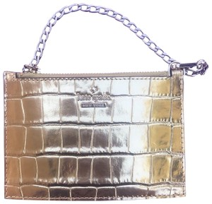 Kate Spade Leather 098687215374 Wristlet in Gold