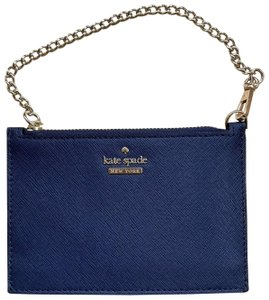 Kate Spade Leather 098687215374 Wristlet in Rich Navy