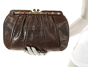 Judith Leiber Vintage Brown Clutch