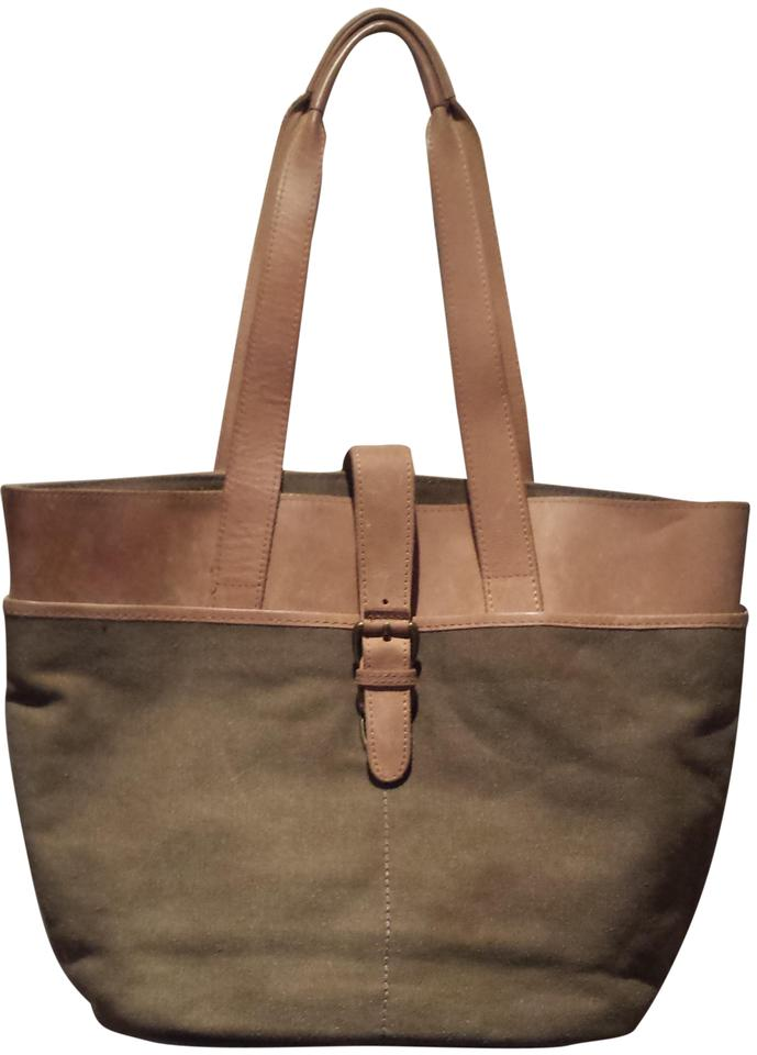 Surprising L L Bean Versatile Canvas Leather By Olive Tan Leather Tote 80 Off Retail Beatyapartments Chair Design Images Beatyapartmentscom