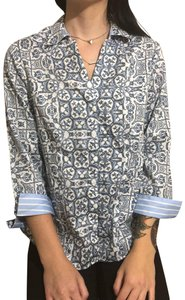 Foxcroft Button Down Shirt Blue