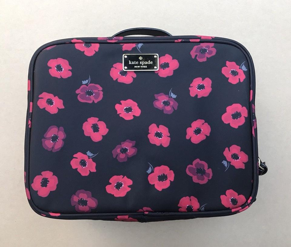 Kate Spade Toiletry 098687239462 Black Red Travel Bag