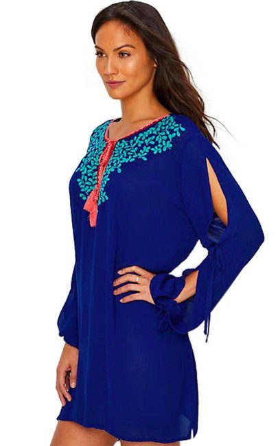 Item - Blue Leaf It To Me Cover-up/Sarong Size 2 (XS)
