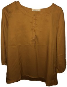 Comme Toi Full Sleeve Yellow Top Honey Gold