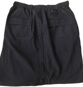Comme Toi Casual Skirt Dark Blue