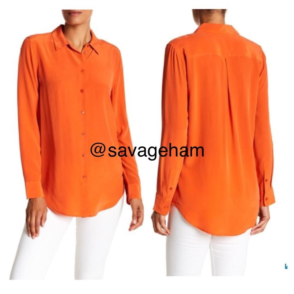 80981566804ac Equipment Tigerlily Essential Collared Silk Blouse Size 4 (S) - Tradesy