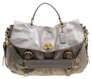 Coach Leather Satin Shoulder Bag