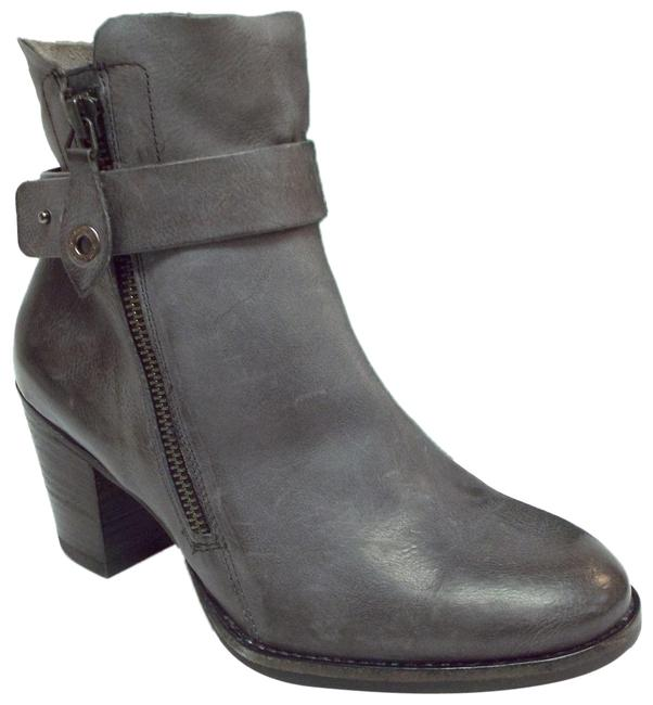 Item - Graphite Gray Leather Block-heel 3.5uk/6us Ankle Boots/Booties Size US 6 Regular (M, B)