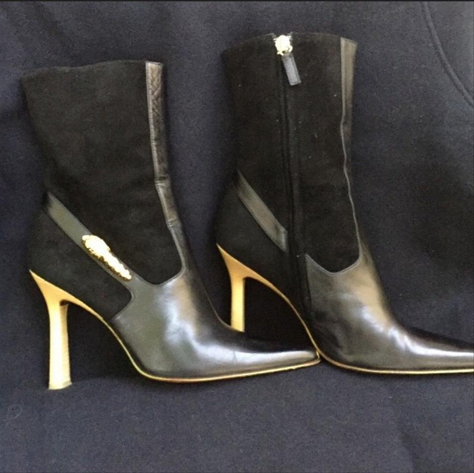 """de01d3bd45a Gucci Black """"gold Rams"""" Suede Leather Boots/Booties Size EU 38 (Approx. US  8) Regular (M, B) 59% off retail"""