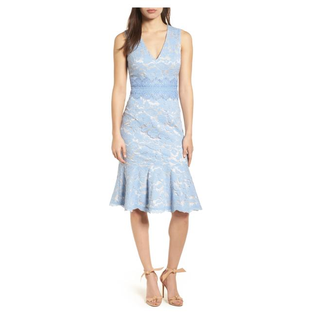 Vince Camuto Lace Sheath Mid-length Cocktail Dress Size 6 (S) Vince Camuto Lace Sheath Mid-length Cocktail Dress Size 6 (S) Image 1